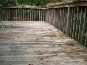 The deck before...