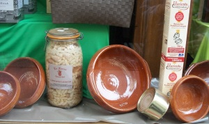 Cassoulet ingredients and corckery