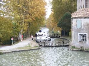 Castlenaudary, France canal lock