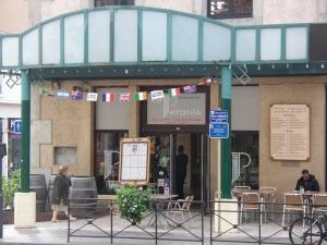La Pergola cafe replaced a hamburger chain