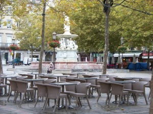 Place Carnot on a rare empty day