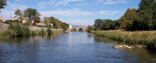 River Aude near the house