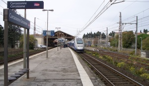 TGV at the Carcassonne station