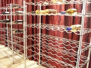Empty wine racks