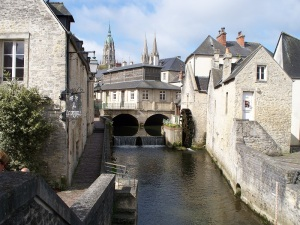 Watermill and fish market, Bayeux, France