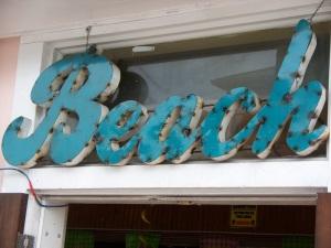 Beach sign key west