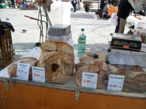 Fresh bread at the market