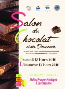 Chocolate Festival poster from the Carcassonne.org website