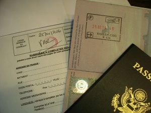 Rubber stamps on official documents