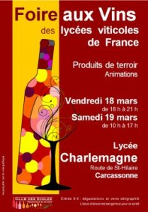 High school wine fair poster from the Carcassonne.org website