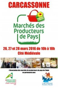 Market poster from the Carcassonne.org website