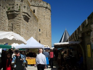 Market inside the castle walls
