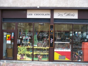 One of 3 chocolate shops around the square