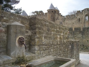 Public water fountain at the castle