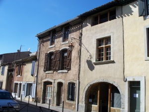 Typical houses in Carcassonne