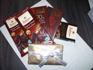 Some of the chocolate we have in the house at the moment