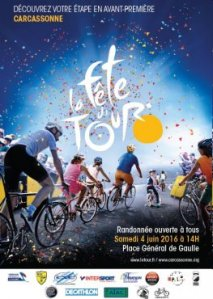 Preview of the Tour de France poster from the city's website