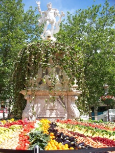 Fountain of fruits and vegetables