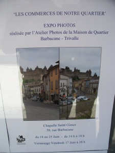 Poster advertising the photo display