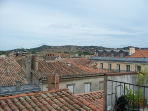 Rooftops of Carcassonne looking towards the castle