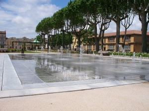 Not wine fountains, Square Gambetta, Carcassonne