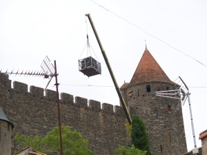 A crane at the castle