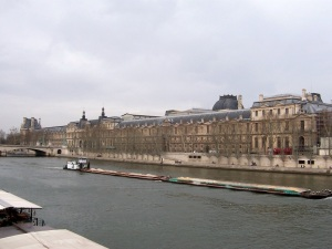 Louvre museum and the Seine river