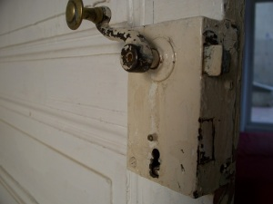 Interior door knob and lock