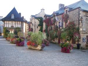 Beautiful village Rochefort-en-Terre in Brittany