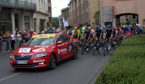 The Tour de France leaving out of Carcassonne
