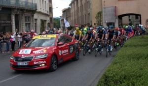 The Tour de France leaving out of Carcassonne