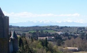 The Pyrenees viewed from Carcassonne