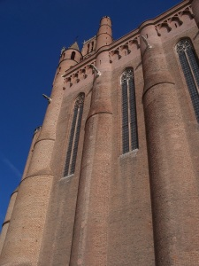 Huge brick cathedral of Albi