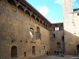 An inner courtyard