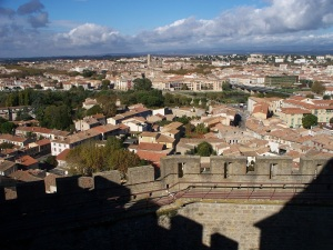 Carcassonne viewed from the top of the castle
