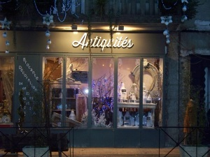 An antiques store