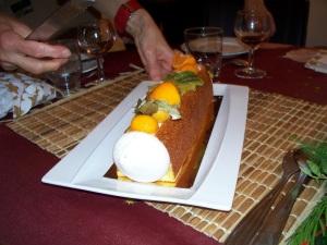 A Bûche de Noël yule log cake
