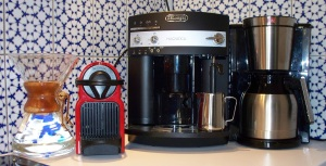 All kinds of coffee makers