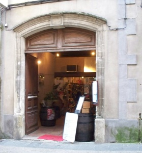 "Wine store ""cave"" entrance"