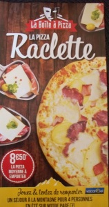 Raclette pizza