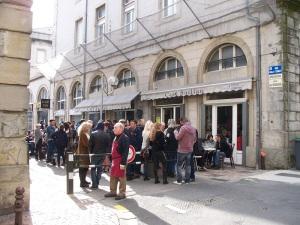 A café-bar street party