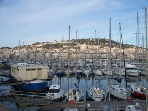 Sète through a forest of masts