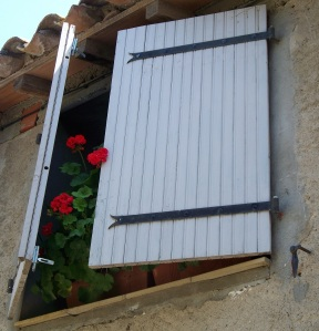Classic south of France blue shutters