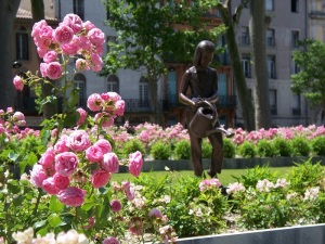 Rose garden at Square Gambetta