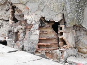 Chimney tiles broken