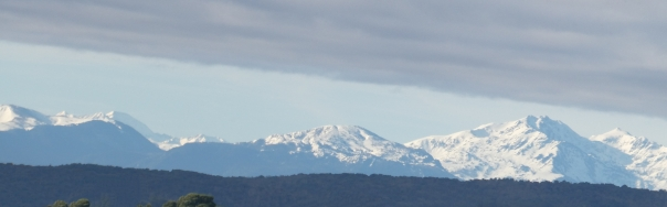 A view of the Pyrenees from the roof